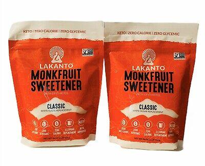 2-Pack Lakanto Clásico Monkfruit Edulcorante Blanco Cetogénica Paleo 0 Cal 473ml