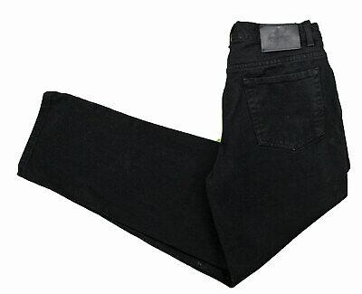 Calvin Klein Black CK Jeans 32x30 Relaxed Straight Easy Fit Cotton Denim Logo