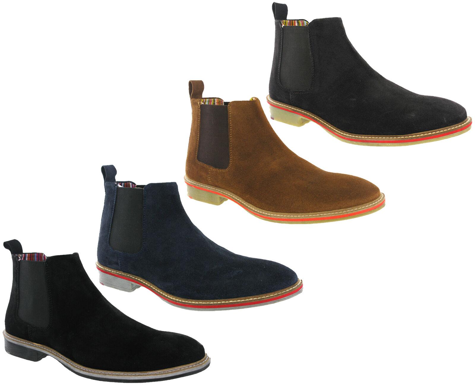 Chaussures UK 6-12 Désert pour Homme en Daim Cuir Cheville À Enfiler Chelsea Dealer Bottes