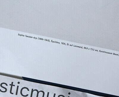 LARGE ORIGINAL SOPHIE TAEUBER-ARP BASEL SWITZERLAND POSTER  - $150.00