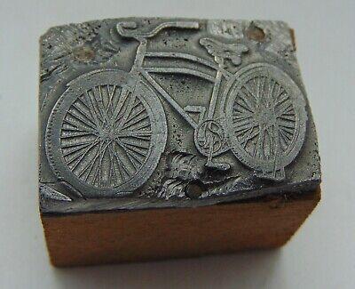 Vintage Printing Letterpress Printers Block Pedal Bike Bicycle