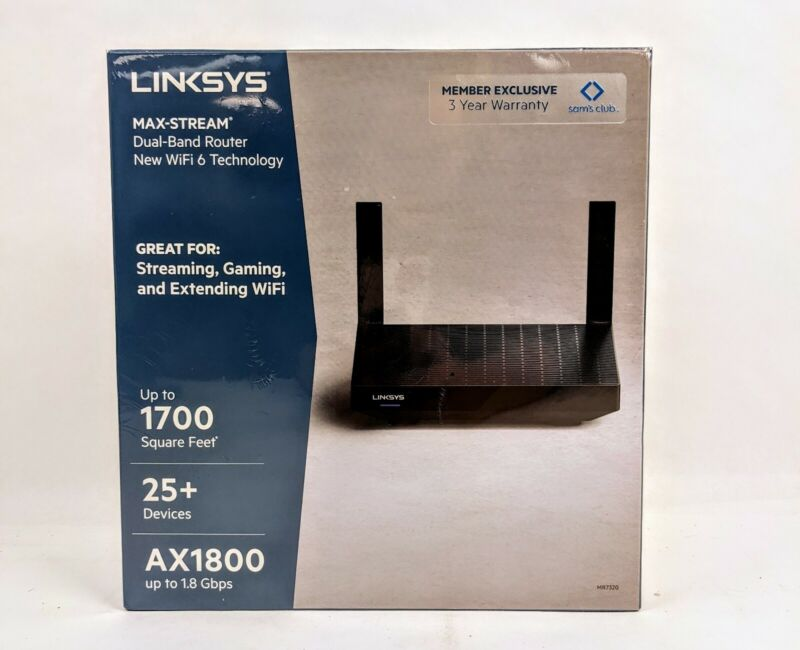 BRAND NEW Linksys Max-Stream Dual-Band Router Wifi 6 Technology AX1800 MR7320