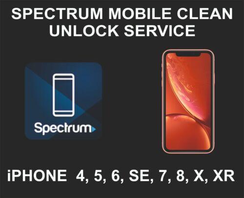 Spectrum Mobile Clean Unlock Service, fits iPhone 4, 5, 6, SE, 7, 8, X, XR, XS