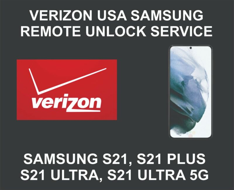 Verizon USA Samsung Unlock Service, Samsung S21, S21 Plus, S21 Ultra, 5G