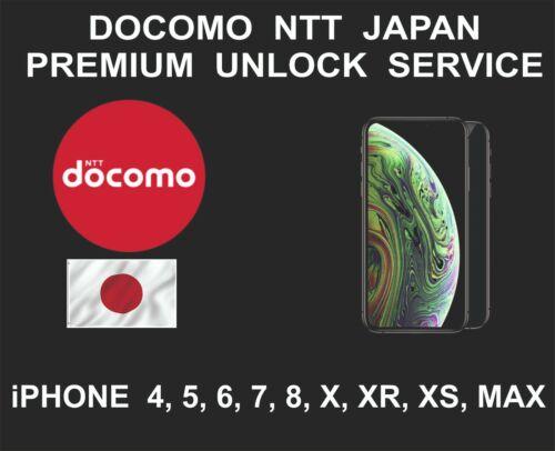 Docomo Japan Premium Unlock Service, fits iPhone 4, 5, 6, SE 7, 8, X, XR, XS MAX
