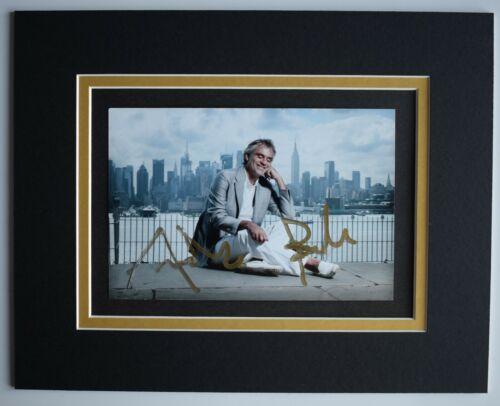 Andrea Bocelli Signed Autograph 10x8 photo display Opera Singer Music AFTAL COA