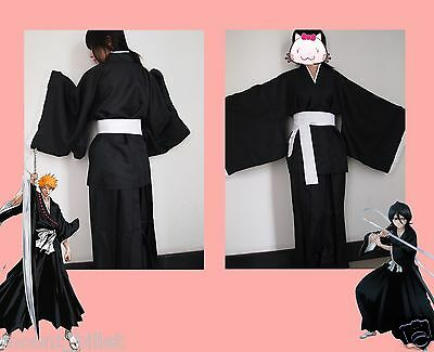 Halloween Anime BLEACH Death Cosplay Costume Shinigami Kimono Specifications L - Shinigami Halloween Costume