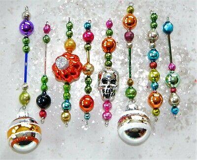 HALLOWEEN Mercury Glass Bead Icicle Ornaments Christmas Garland Czech Bead