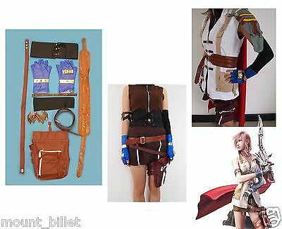 Brand new Final Fantasy XIII Lightning Halloween Cosplay Costume - Final Fantasy Halloween Costumes