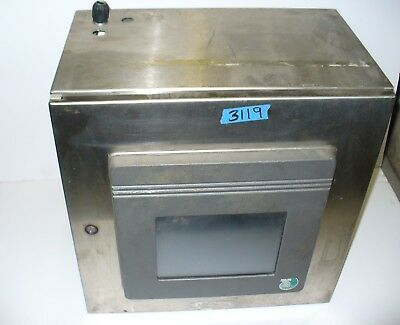 Hoffman Stainless Steel Control Panel Enclosure W Pcs Touch Screen Ls7100-25-8