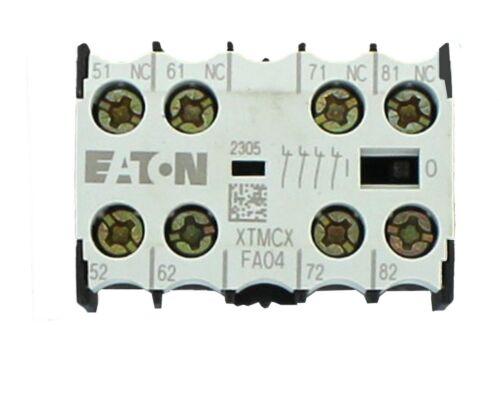 EATON Cutler-Hammer Miniature Contactor -AUXILIARY CONTACT  XTMCXFA04