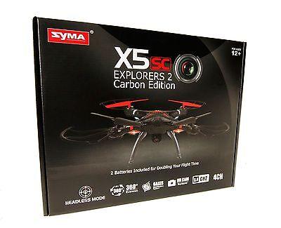 Syma X5SC Explorers2 2.4G 4CH 6-Axis Gyro RC Headless Quadcopter HD Camera Black