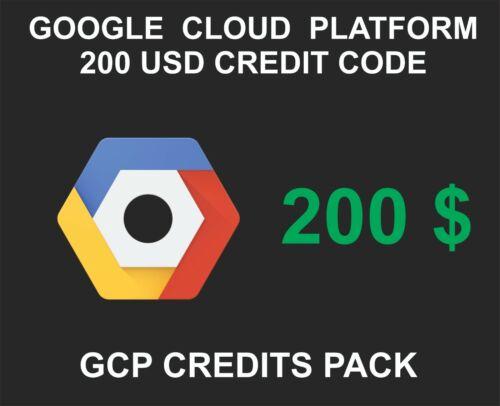 Google Cloud Platform GCP Credit Key, 200 USD Credit Pack, 1 Key