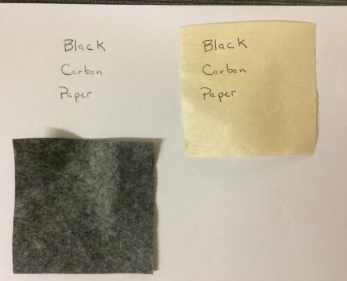 """Carbon Transfer Paper for paper & woodworking tracing - (15)  8.5"""" x 11"""" Sheets"""