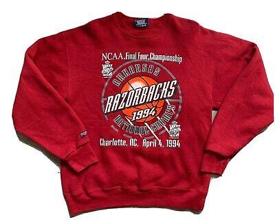 Vintage Arkansas Razorbacks NCAA (1994) FINAL FOUR Sweater Large🔥RARE Jansport Arkansas Razorbacks Ncaa Basketball