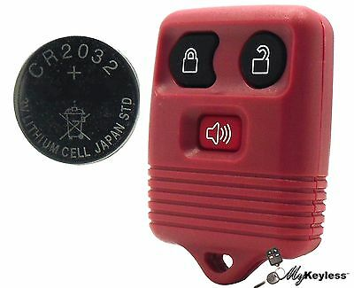 New Red Ford Mercury Replacement Keyless Entry Remote Key Fob + CR2032 Battery