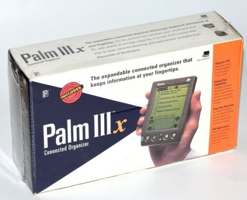 Brand New Palm IIIx 3Com Connected Personal Organizer Vintage Computer Retro