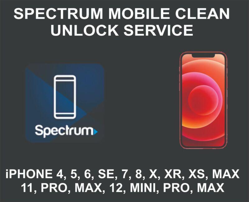 Spectrum Mobile Clean Unlock Service, fits iPhone 5, 6, 7, 8, X, XR, XS, 11, 12
