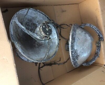 Corroded Pair IncompleteRusted Up Dirty military (landing light?)  AM ref 5c/773