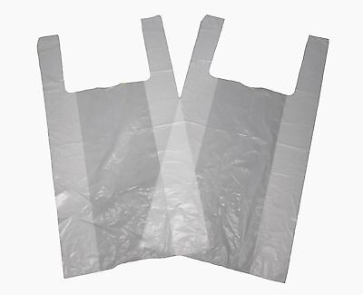 100 Strong  Vest Carrier Bags 12''x18''x23'' jumbo