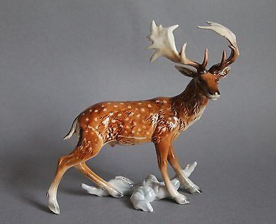 Göbel Goebel Porzellan Figur Unser Wald Serie Damhirsch