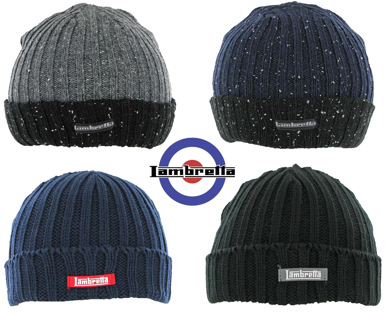 5266bd11d84 Lambretta Hat Scarf and Gloves Box Set 3 Piece 100% Acrylic One Size ...
