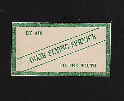 Opc 1930S Dixie Flying Service  By Air To The South  2 1 8  X 1 1 8  Label Mnh