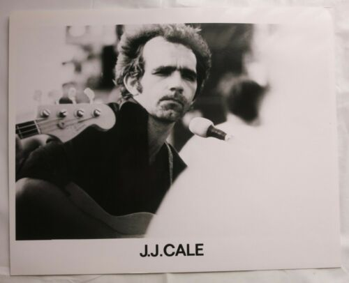 "J. J. CALE - Old Gloss Black & White Promo Photo 10"" x 8"" Folk Rock / Blues"