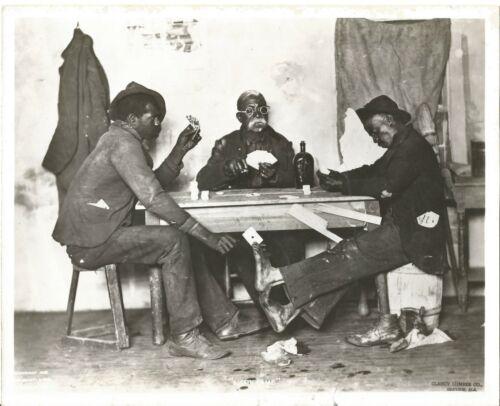1898 KNAFFL & BRO-Knoxville TN-A Skin Game Photograph-8X10-US AIR FORCE PRINT!
