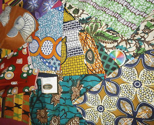 MULTI-COLOURED-AFRICAN-COTTON-PRINT-FABRIC-CRAFT-MAKING-FAT-QUARTER-BUNDLE
