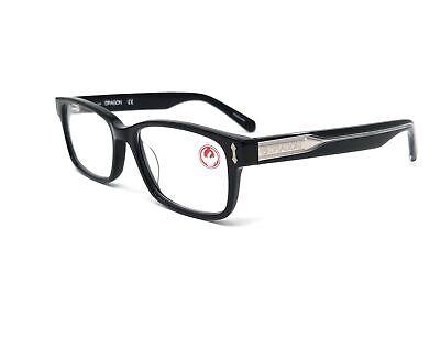 DRAGON Eyeglasses DR150 GRANT 001 Shiny Black Rectangle Men's 51x16x145