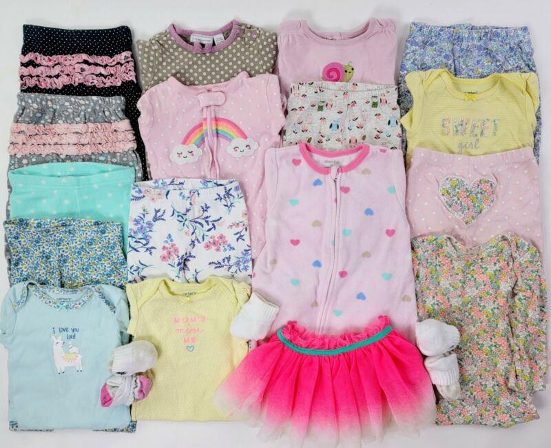Girls 9-18 Months Clothes Lot Outfits Baby 12 Ralph Lauren, Carters, Etc Sleeper