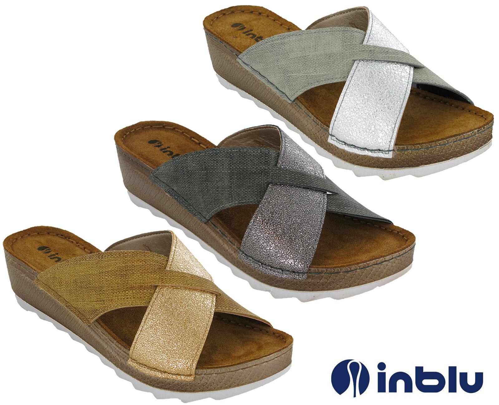 Inblu Slip On Wedge Sandals Padded