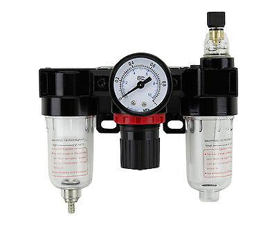 Druckluft Wartungseinheit Wasserabscheider Druckminderer Öler Kompressor NEU