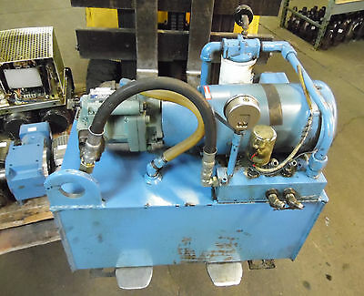 Parker 2 HP Hydraulic Unit, # PU3051A, M3558-M15, PCP8-3K-2AK-2, Used, WARRANTY
