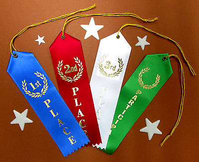 1st 2nd 3rd Place & Participant QUALITY Award Ribbons wCard-String 2x8 FAST SHIP](1st Place Ribbon)