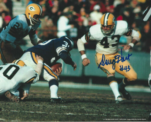 Green Bay Packers Doug Hart autographed 8x10 action photo vs Minnesota Vikings