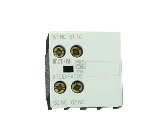 EATON Cutler-Hammer Miniature Contactor -AUXILIARY CONTACT  XTCEXFAC02