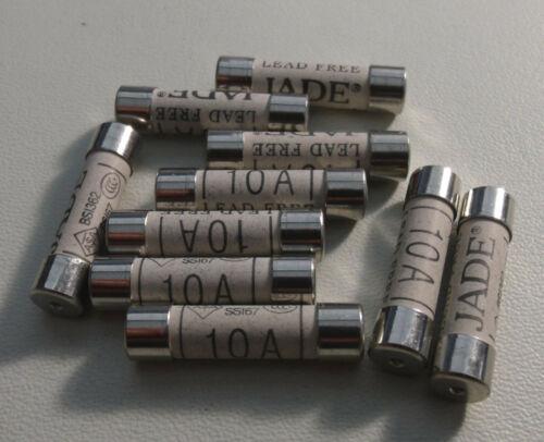 """FUSE : BS1362 : 10A : Ceramic, 6x25mm, 8AG, 1/4"""" x 1"""" : 10pcs per lot"""