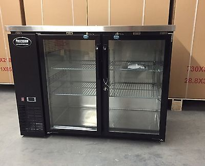"NEW 48"" BACK BAR Refrigerator Beer 2 DOOR GLASS 4"