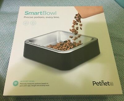 Petnet SmartBowl Dog Cat Stainless Steel Wi-Fi Electronic Food Bowl Feeder