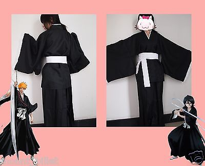 Halloween Anime BLEACH Death Cosplay Costume Shinigami Kimono Specifications S  - Shinigami Halloween Costume