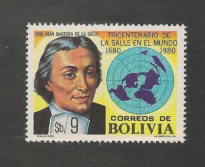 Bolivia #653 VF MNH - 1980 9b La Salle And World Map