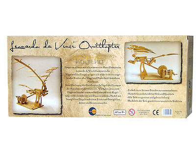 FunTrading Leonardo Da Vinci Ornithopter Flug Maschine Modellbau Baukasten Holz