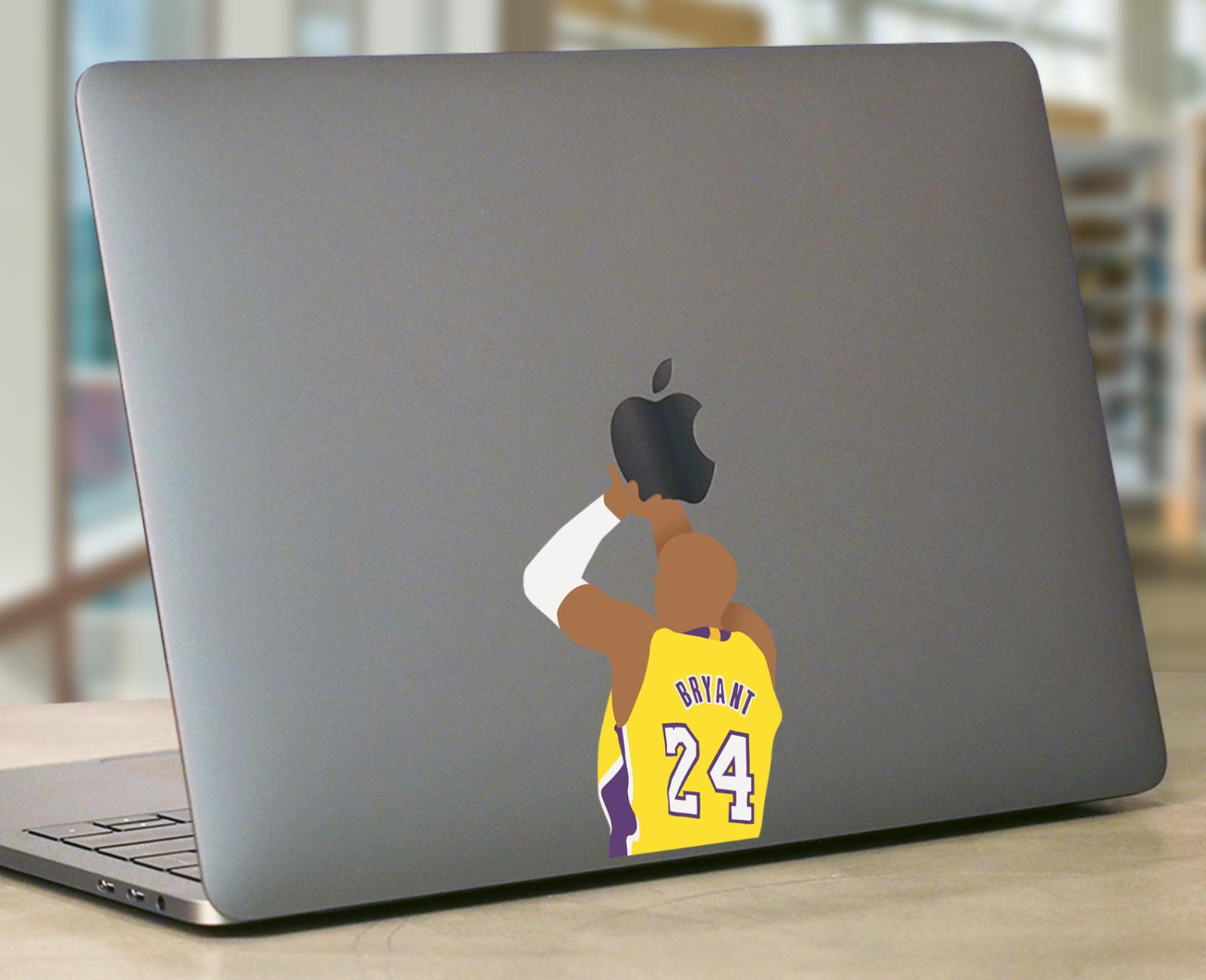 Kobe Bryant Macbook laptop Sticker Apple Dunking Basketball