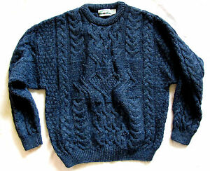 Irish fisherman aran crafts made in ireland 100 wool knit for Aran crafts fisherman sweater