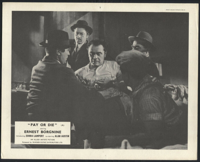 Pay Or Die '60 ERNEST BORGNINE MEN WITH GUNS RARE