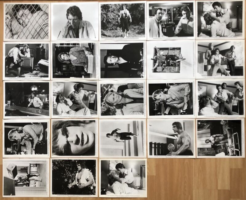 THE INCREDIBLE HULK 1979 ORIGINAL U.S. SET OF 23 MOVIE STILLS NEAR MINT