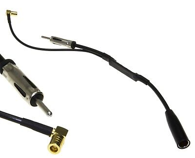 DAB+ Antena Adaptador Divisor para Coche Radio JVC Kenwood sony Alpine Pioneer