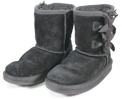 Kids Koolaburra by UGG Victoria Short Black Boots Kids Girls Size USA 12